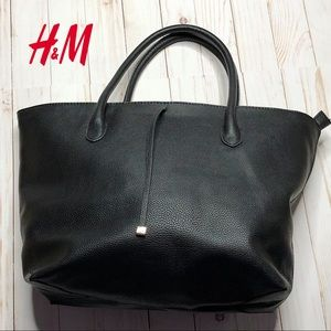 H&M Zippered Tote Bag - Black
